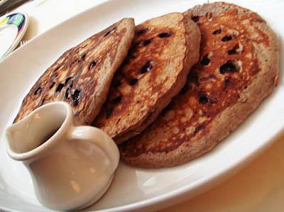 New York again - blueberry buckwheat pancakes