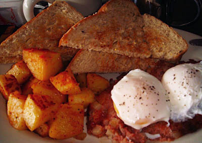 Maine: Corn beef hash in a local diner