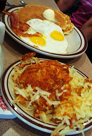Heart attack on a plate - Denny's breakfast in Toronto