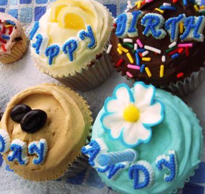 Birthday cupcakes from Primrose Bakery