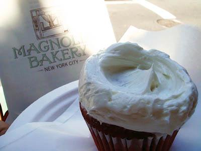 Magnolia bakery cupcake in New York