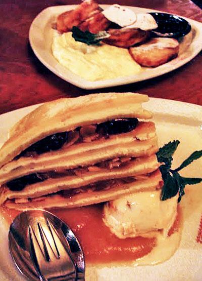 Czech pancakes