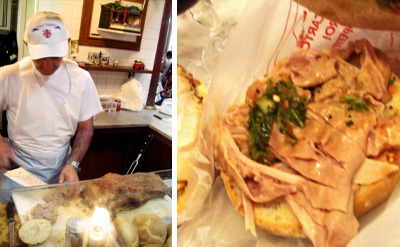At the trippaio: where I was blown away by the humble tripe roll