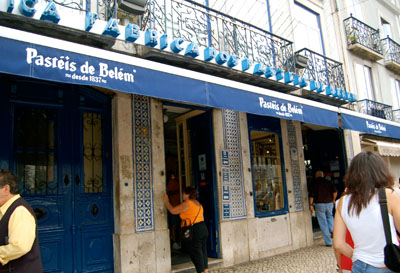 Outside Pasteis de Belem, just before the crowds flocked in