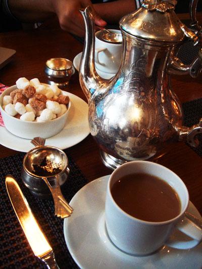 Proper silver tea service