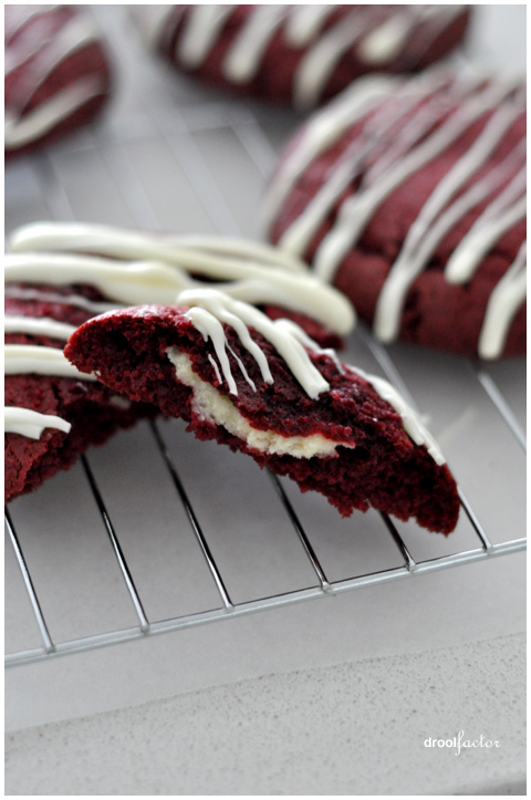 Merry Christmas Red Velvet Cheesecake Cookies Droolfactor