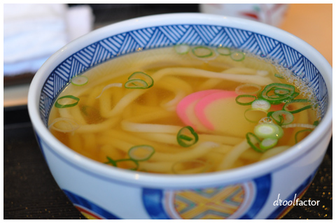Udon in dashi stock