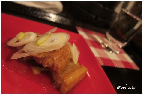 Slow braised sweet pork belly.